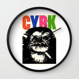 1964 CYRK Smoking Chimpanzee Polish Circus Poster Wall Clock