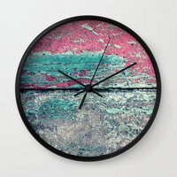 friday Wall Clocks featuring friday by Claudia Drossert