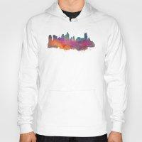 minneapolis Hoodies featuring Minneapolis Skyline  by jbjart