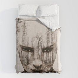 Vintage Double Exposure Comforters