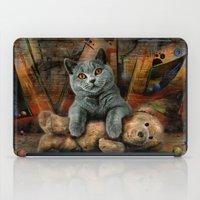 kpop iPad Cases featuring Cat Diesel with teddybear ! by teddynash
