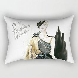 NYFW Fashion Illustrations Rectangular Pillow