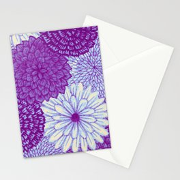Watercolor Bouquet - Violet Stationery Cards
