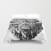 bison Duvet Covers featuring Bison by BIOWORKZ