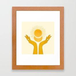 Holding the Light Framed Art Print