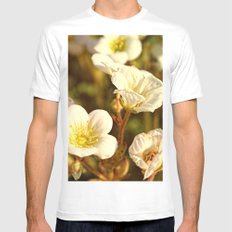 Peaceful Mens Fitted Tee MEDIUM White