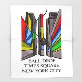 Ball Drop Times Square Throw Blanket