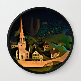 Grant DeVolson Wood - The Midnight Ride of Paul Revere - Digital Remastered Edition Wall Clock