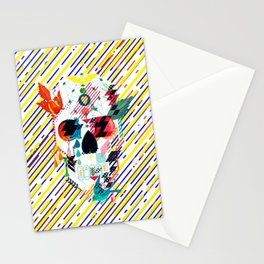 Abstract Skull Stationery Cards