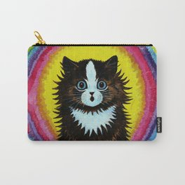 "Louis Wain's Cats ""Psychedelic Rainbow Cat"" Carry-All Pouch"