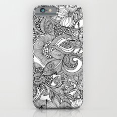 Flowers and doodles iPhone 6 Slim Case