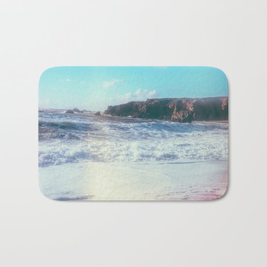 California Sunshine Waves Bath Mat