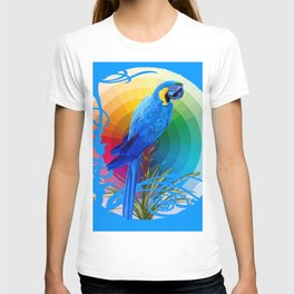 DECORATIVE CERULEAN BLUE MACAW  COLORFUL ART T-shirt