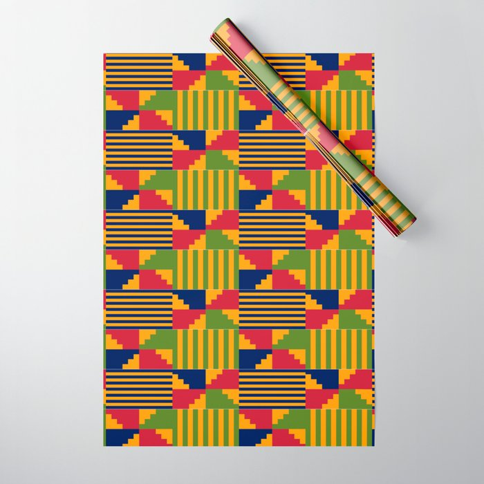 African Kente Pattern 9 Wrapping Paper by Society6