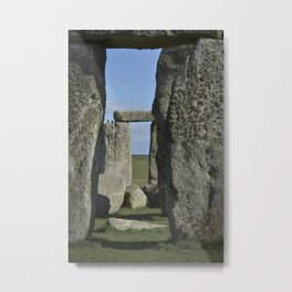 Stonehenge Detail with two birds Metal Print