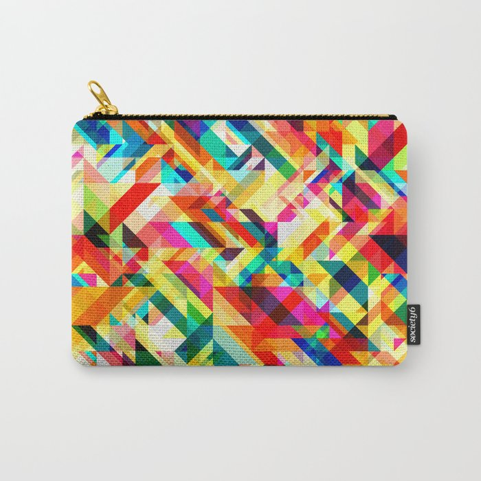 Summertime Geometric Carry-All Pouch