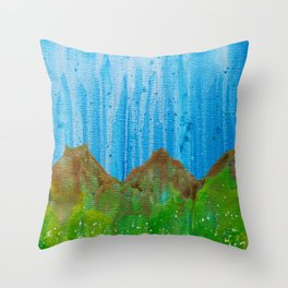 Rain on the Rockies Throw Pillow