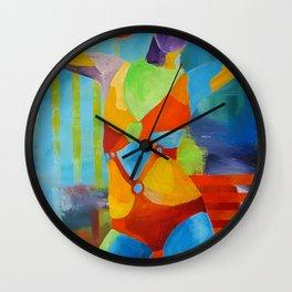 Girl Pop-art Woman Figure Color Wall Clock