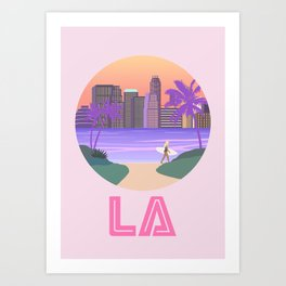 Los Angeles City Art Art Print