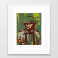 police Framed Art Prints featuring Police by Steeze Abiola