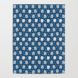 Baby Owl Pattern Poster