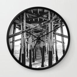 Balboa Pier Print {3 of 3} | Newport Beach Ocean Photography B&W Summer Sun Wave Art Wall Clock