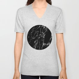 Black magic marble Unisex V-Neck