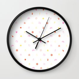 A Few of My Favorite Things Emojis Wall Clock