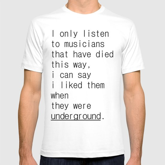 underground music T-shirt