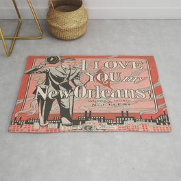 I Love You My New Orleans Rug