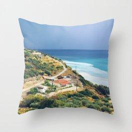 Samos, Greece After A Storm Throw Pillow