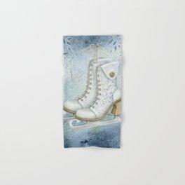 Christmas vintage ice skating #1 Hand & Bath Towel