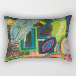 Head Space - by Toni Wright Rectangular Pillow