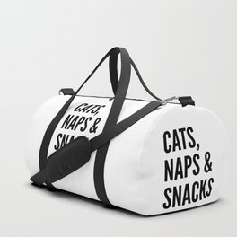 Cats, Naps & Snacks Duffle Bag