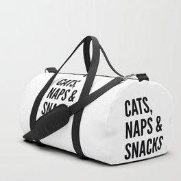 Cats, Naps & Snacks Duffle Bag