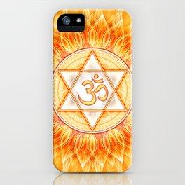 Lotos Sun Om iPhone Case