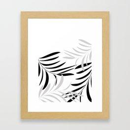 Black&Grey Branches Framed Art Print