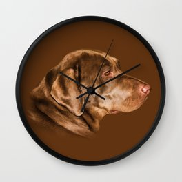 Chocolate on Chocolate Wall Clock