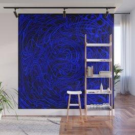blue swirls Wall Mural