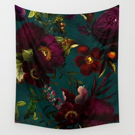 Before Midnight Vintage Flowers Garden Wall Tapestry