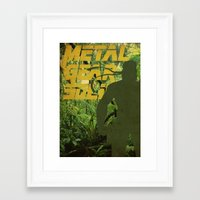 metal gear solid Framed Art Prints featuring Metal Gear Solid: Jungle by Diego Elola Portilla