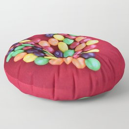 Skittles Heart Floor Pillow