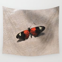 Postman Butterfly Sunbathing Wall Tapestry