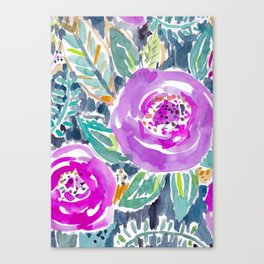 Gardens of Bolinas Purple Floral Canvas Print