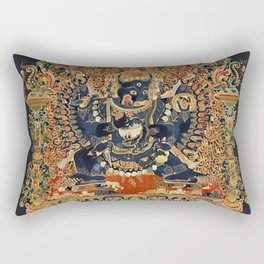 Tantric Buddhist Vajrabhairava Deity 2 Rectangular Pillow