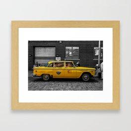 NYC Cab Framed Art Print