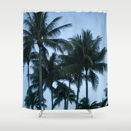 Palm Trees at Dusk Shower Curtain