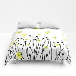 Yellow Wildflower Comforters
