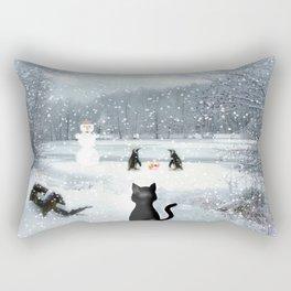 Cat on tour Rectangular Pillow