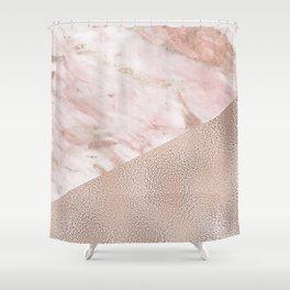 Gently golden - rose gold adorns Shower Curtain